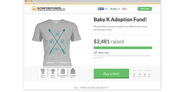 Adoption fundraising ideas fund your adoption for Adoption fundraiser t shirts