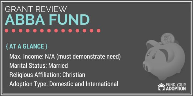 abba fund adoption grant
