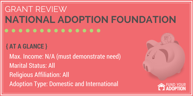National Adoption Foundation Adoption Grant