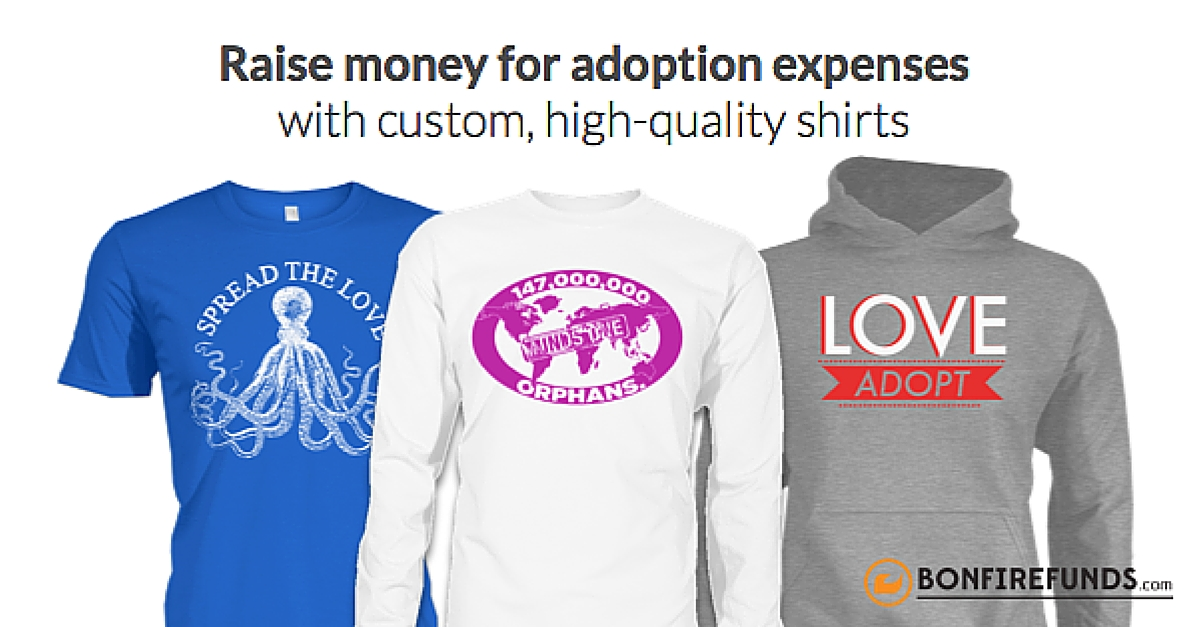 Increase your t shirt fundraising sales fund your adoption for Sell t shirts for charity