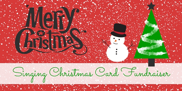 singing christmas card fundraiser
