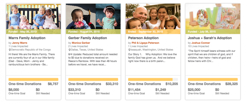 adoption fundraisers
