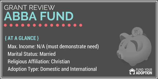 Abba Fund's Christian Family Adoption Grant Fund