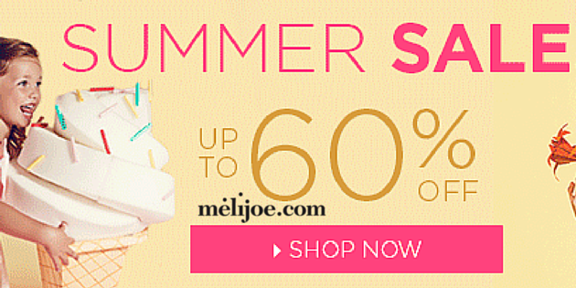Melijoe Summer Sale – Up To 60% Off The Top Kid's Fashion Brands